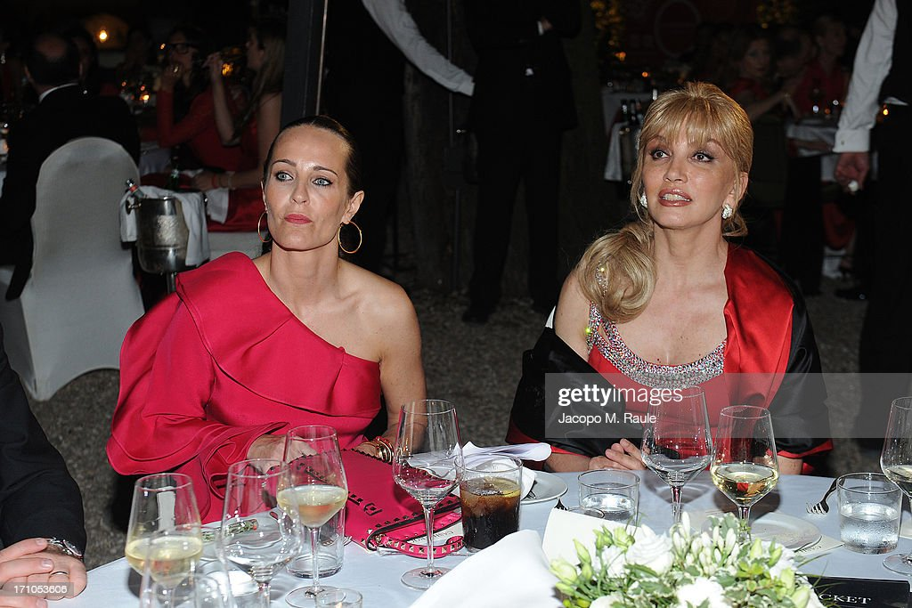 Julie Brangstrup and Milly Carlucci attend Cash & Rocket On Tour Women for Women - Gala Dinner and Auctionon June 16, 2013 in Rome, Italy.