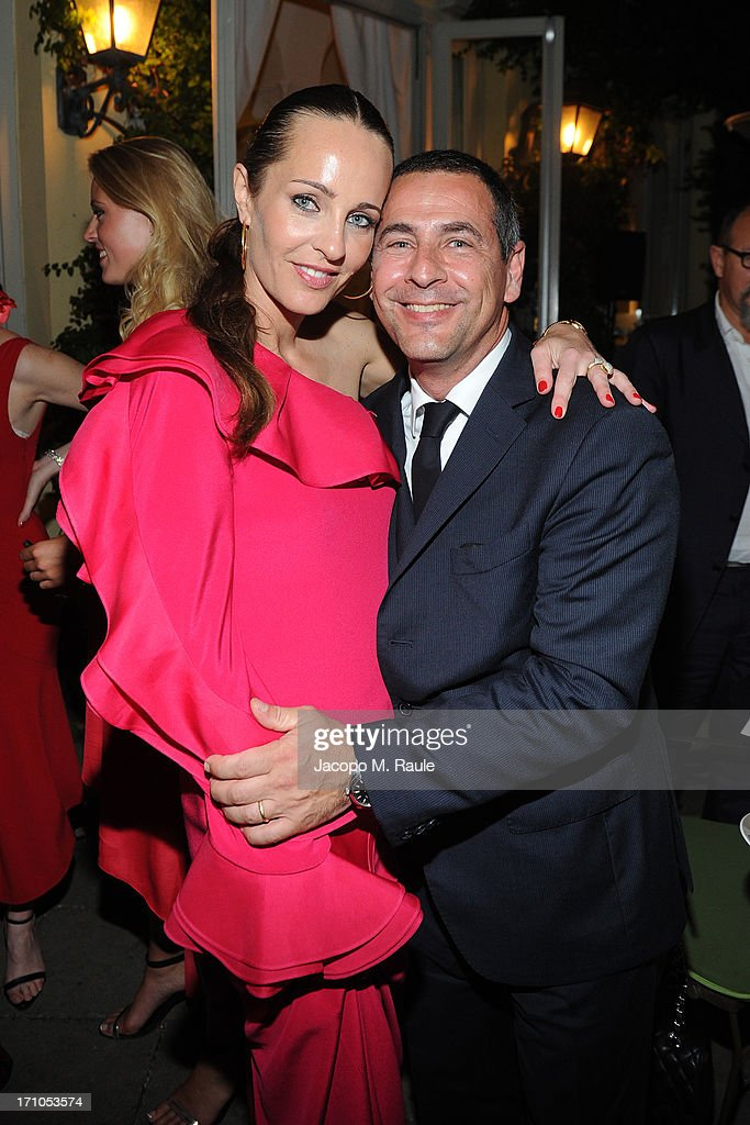 Julie Brangstrup attends and Stefano Gegnacorsi attend Cash & Rocket On Tour Women for Women - Gala Dinner and Auctionon June 16, 2013 in Rome, Italy.