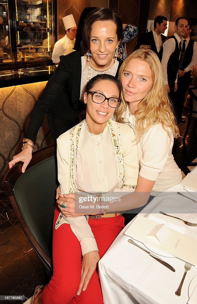 Julie Brangstrup, Lilly Becker and <a gi-track='captionPersonalityLinkClicked' href=/galleries/search?phrase=Jodie+Kidd&family=editorial&specificpeople=178960 ng-click='$event.stopPropagation()'>Jodie Kidd</a> attend the launch of Cash & Rocket, in aid of the (Red) Rush to Zero campaign, at Banca Restaurant on April 29, 2013 in London, England.