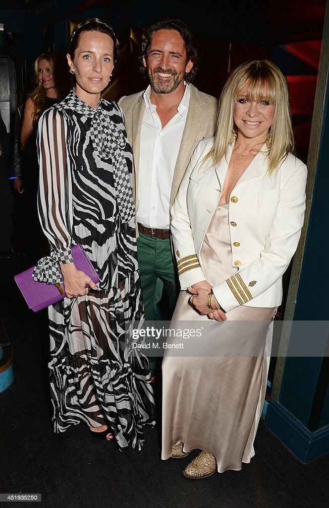 Julie Brangstrup, Mark Brangstrup Watts and Jo Wood attend Jo Wood and Yasmin Mill's Summer Party at Boujis on July 9, 2014 in London, England.