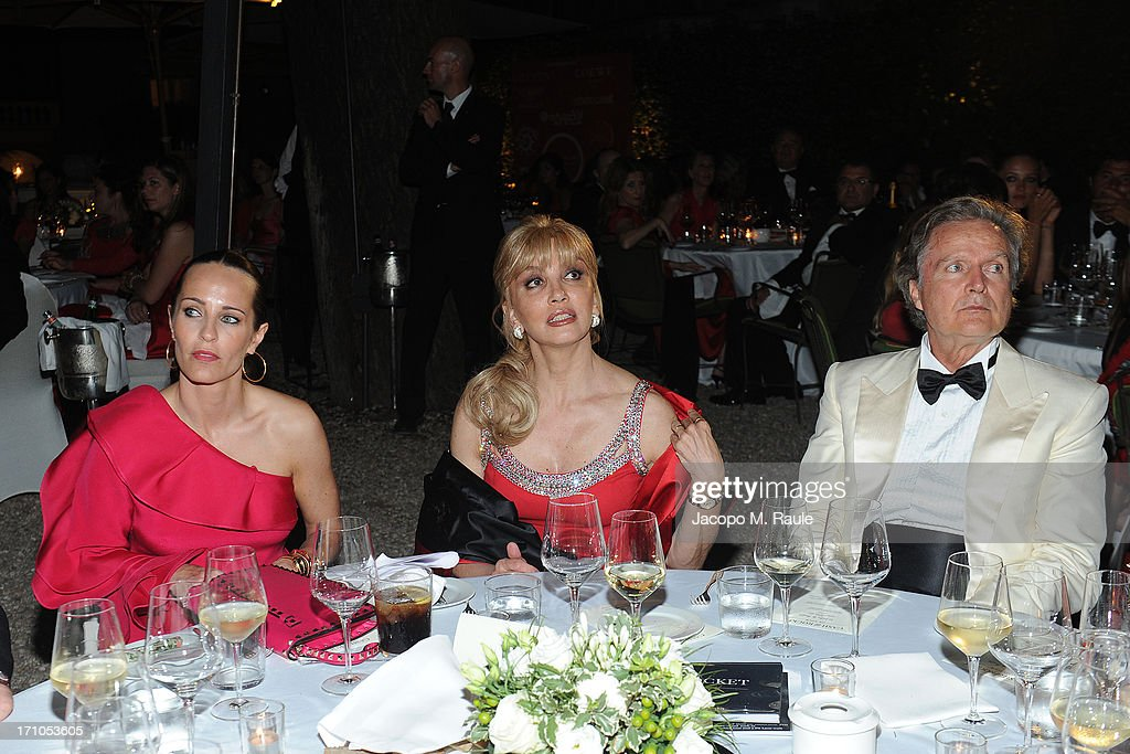Julie Brangstrup, Milly Carlucci and Angelo Donati attend Cash & Rocket On Tour Women for Women - Gala Dinner and Auctionon June 16, 2013 in Rome, Italy.