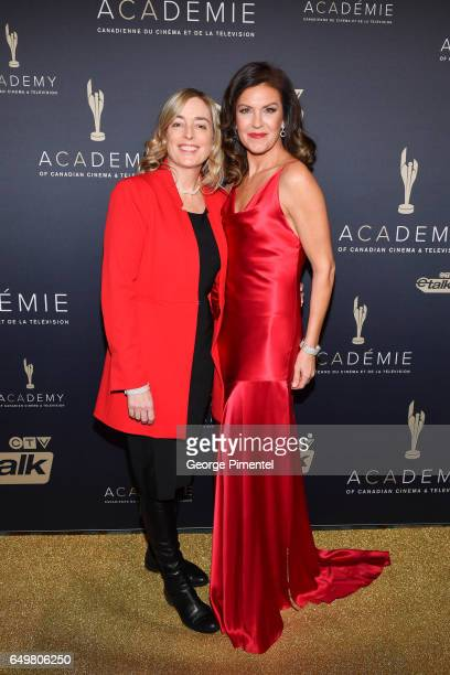 Julie Bristow and Wendy Crewson attends the 2017 Canadian Screen Awards Creative Fiction Gala at Westin Harbour Castle Hotel on March 8 2017 in...
