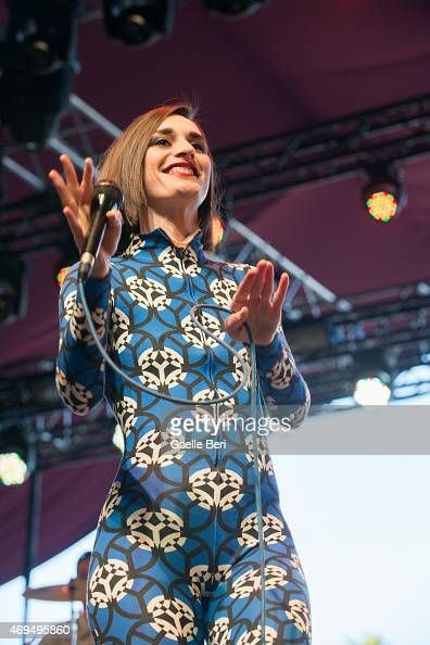 Julie Budet of Yelle performs on stage at Coachella Festival at The Empire Polo Club on April 11 2015 in Indio United States