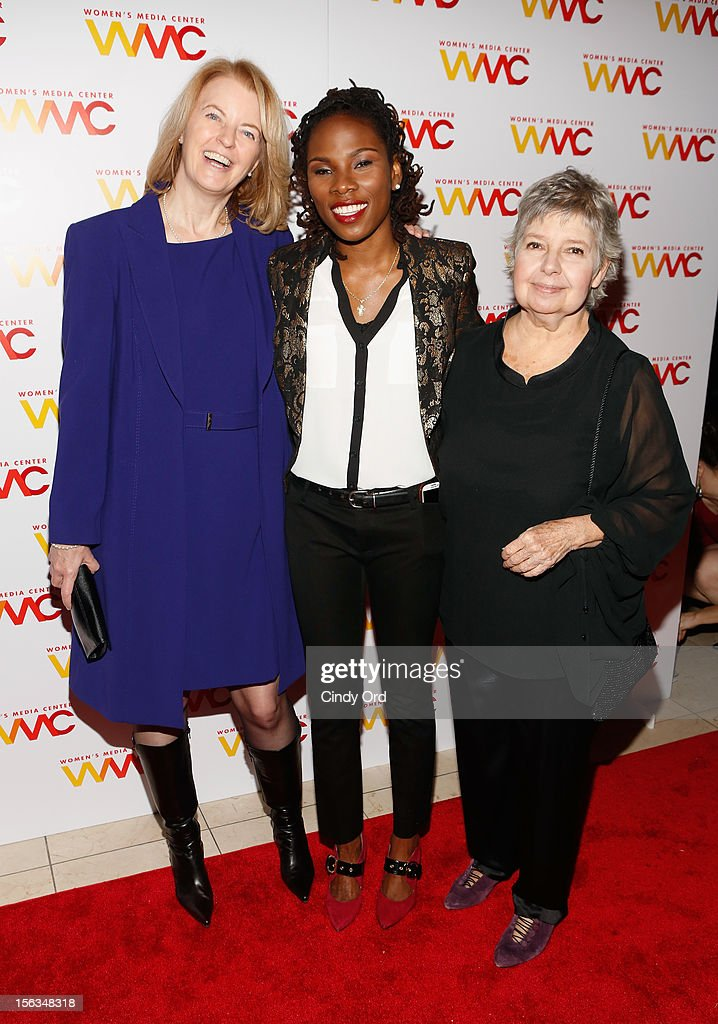 Julie Burton, Luvvie Ajayi and Robin Morgan attend the 2012 Women's Media Awards at Guastavino's on November 13, 2012 in New York City.