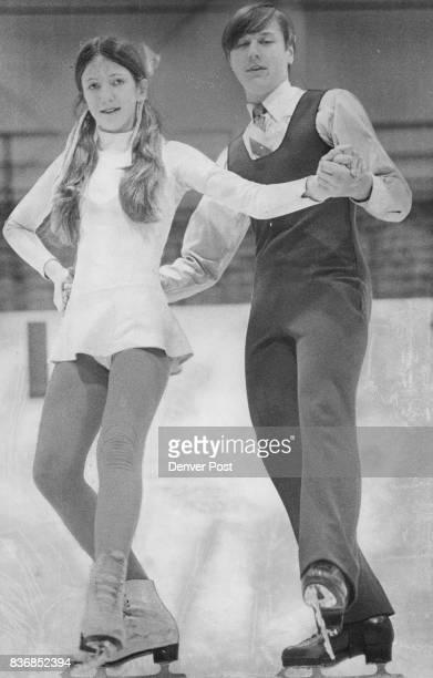 Julie Cass and Ken Kawiecki enter dance competition Area Youths Seek Ice Skating Honors Credit Denver Post