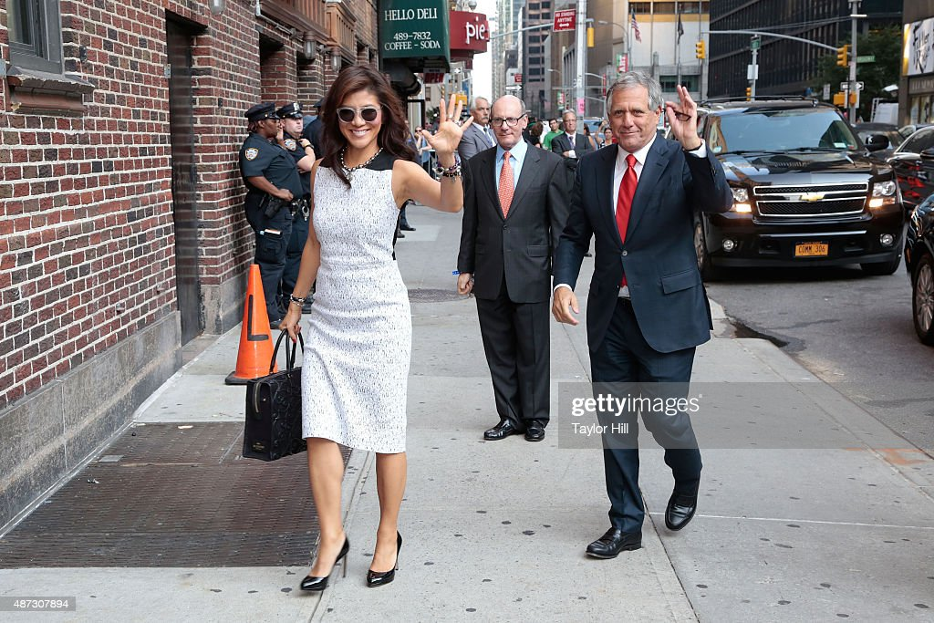 Julie Chen and Les Moonves arrive at the first taping of 'The Late Show with Stephen Colbert' at Ed Sullivan Theater on September 8 2015 in New York...