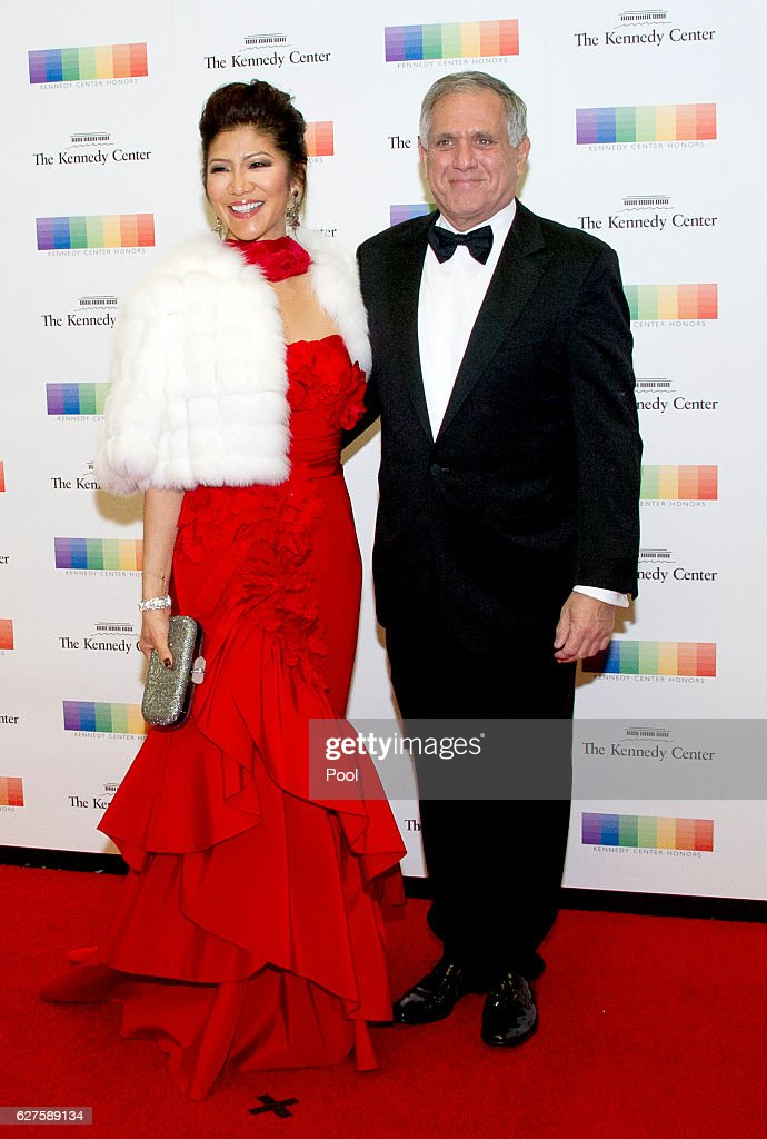 Julie Chen and Les Moonves arrive for the formal Artist's Dinner honoring the recipients of the 39th Annual Kennedy Center Honors hosted by United States Secretary of State John F. Kerry at the U.S. Department of State on December 3, 2016 in Washington, D.C. The 2016 honorees are: Argentine pianist Martha Argerich; rock band the Eagles; screen and stage actor Al Pacino; gospel and blues singer Mavis Staples; and musician James Taylor.