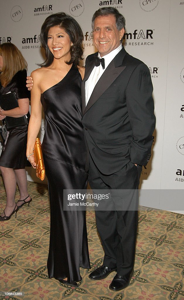 Julie Chen and Les Moonves at amfAR's New York Gala to Honor Patti LaBelle Sumner Redstone and Peter Dolan