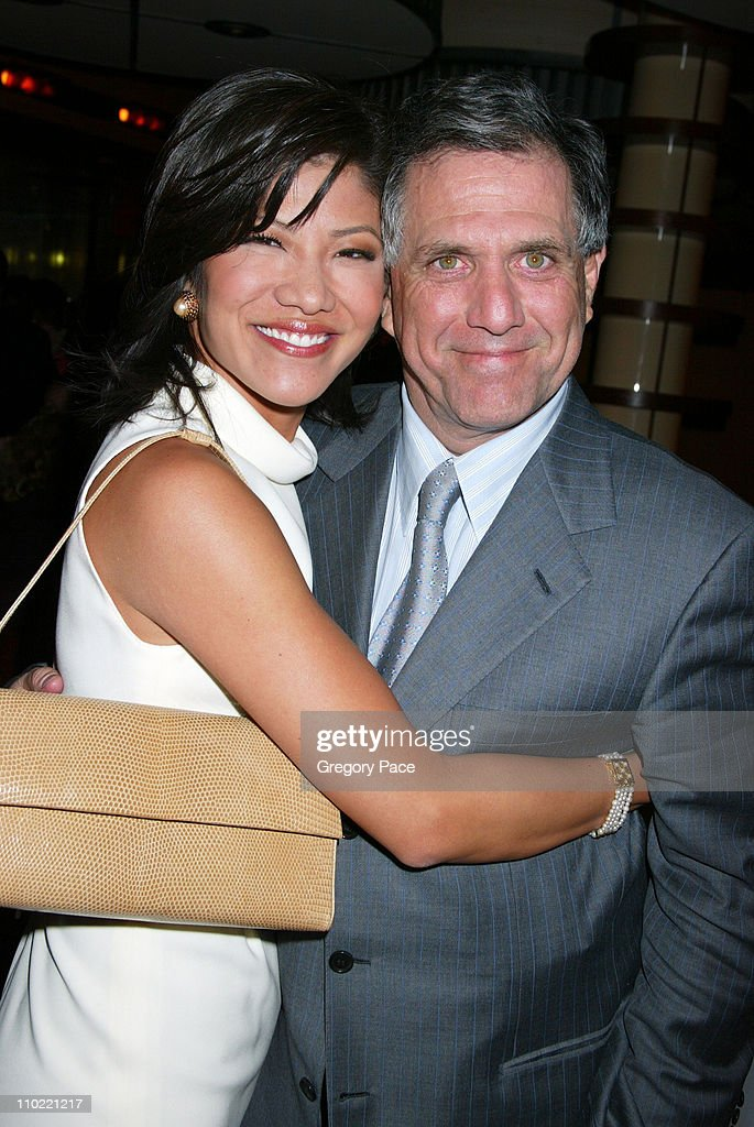 Julie Chen and Les Moonves during Opening Party For Bobby Flay's New Restaurant Bar Americain at Bar Americain in New York City New York United States