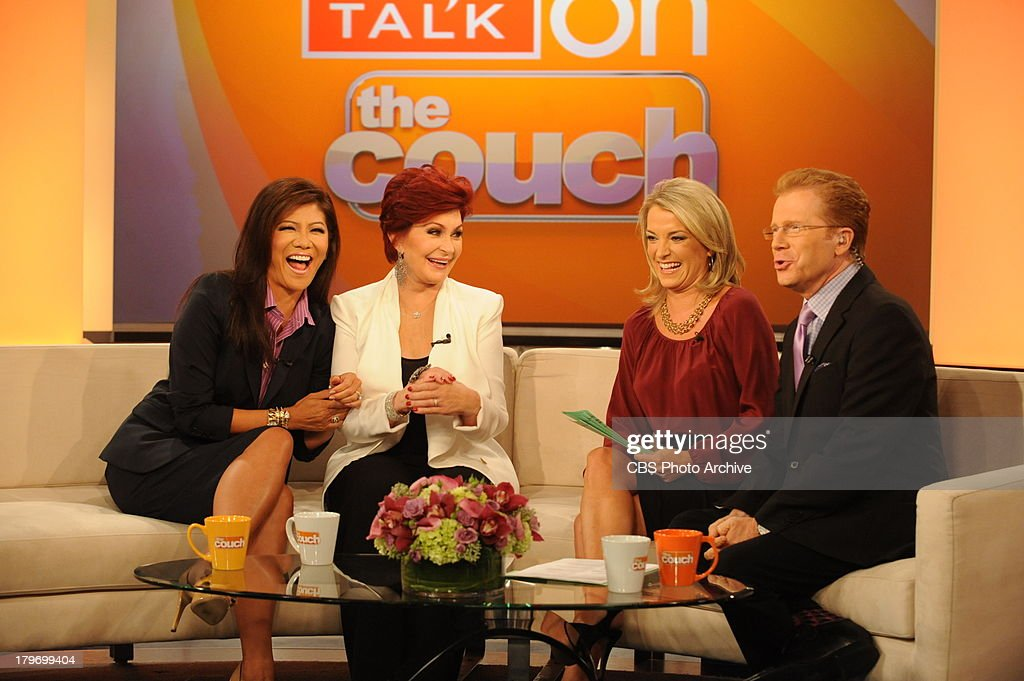 Julie Chen and Sharon Osbourne visit The Couch with Lisa Kerney and John Elliott on Friday, Sept. 6, 2013 on the CBS Television Network.