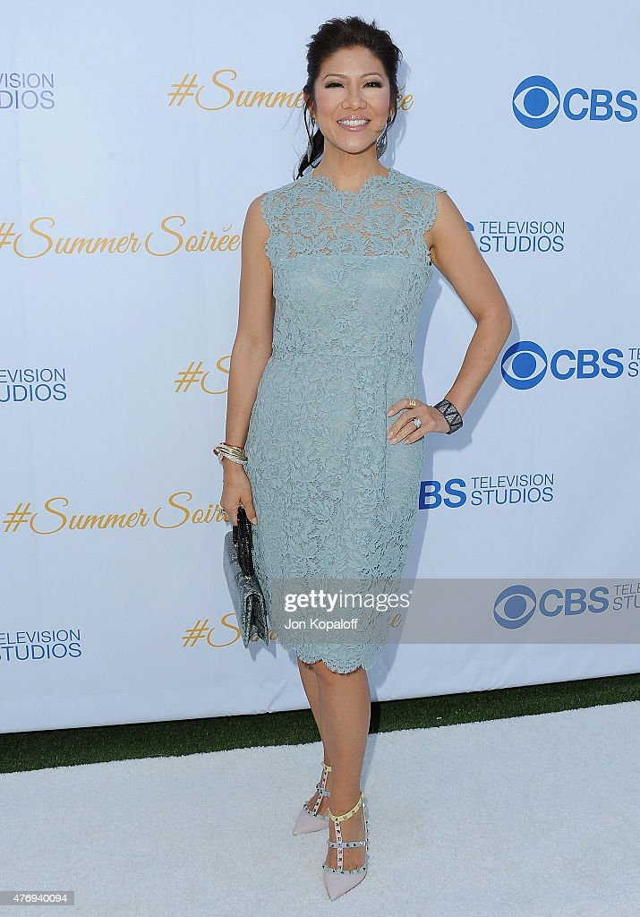 <a gi-track='captionPersonalityLinkClicked' href=/galleries/search?phrase=Julie+Chen&family=editorial&specificpeople=206213 ng-click='$event.stopPropagation()'>Julie Chen</a> arrives at CBS Television Studios 3rd Annual Summer Soiree Party at The London Hotel on May 18, 2015 in West Hollywood, California.