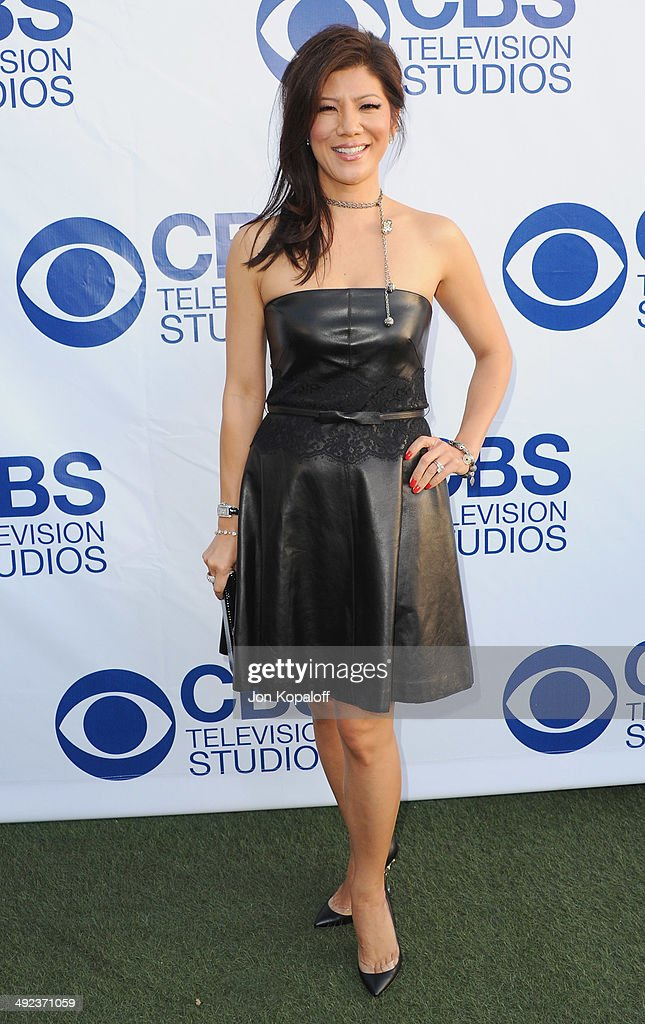 Julie Chen arrives at the CBS Summer Soiree at The London West Hollywood on May 19 2014 in West Hollywood California