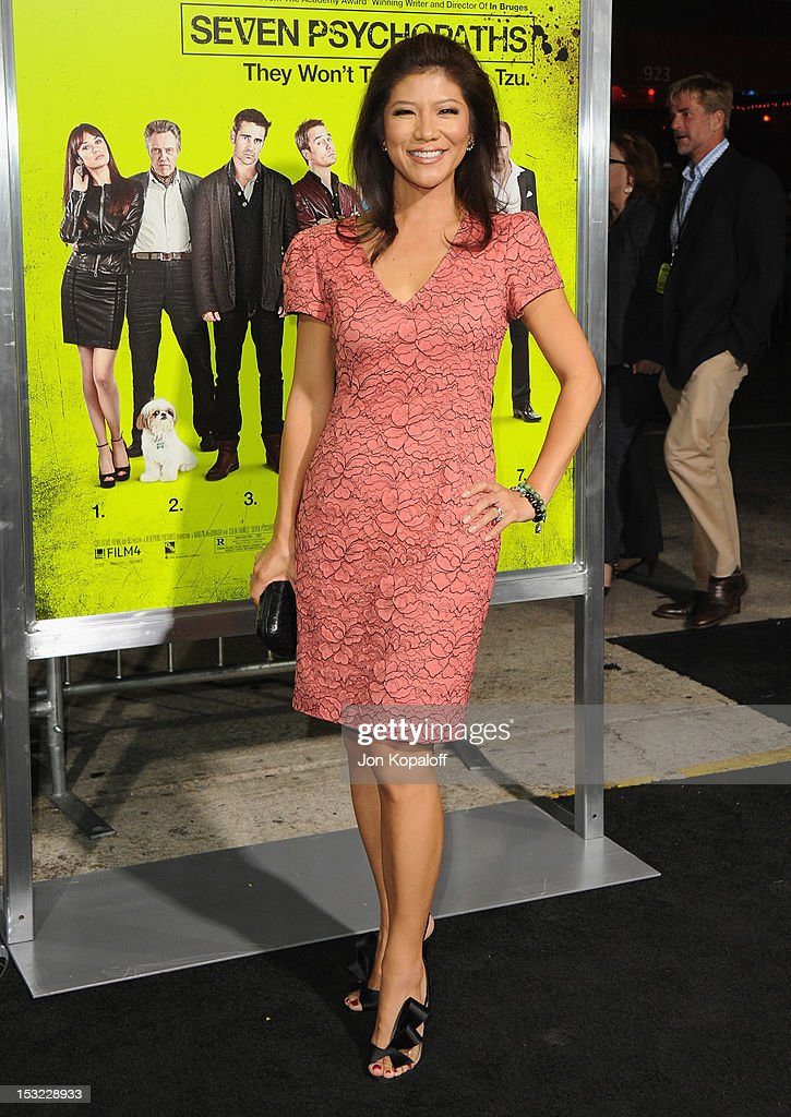 Julie Chen arrives at the Los Angeles Premiere 'Seven Psychopaths' at Mann Bruin Theatre on October 1, 2012 in Westwood, California.