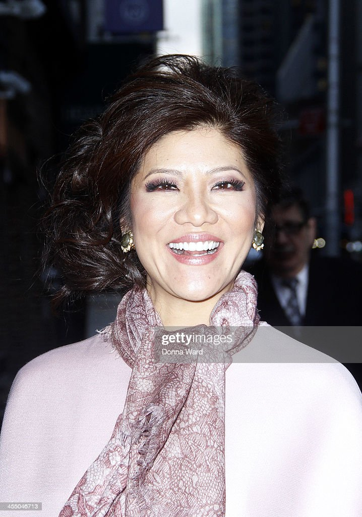 <a gi-track='captionPersonalityLinkClicked' href=/galleries/search?phrase=Julie+Chen&family=editorial&specificpeople=206213 ng-click='$event.stopPropagation()'>Julie Chen</a> arrives for the 'Late Show with David Letterman' at Ed Sullivan Theater on December 10, 2013 in New York City.