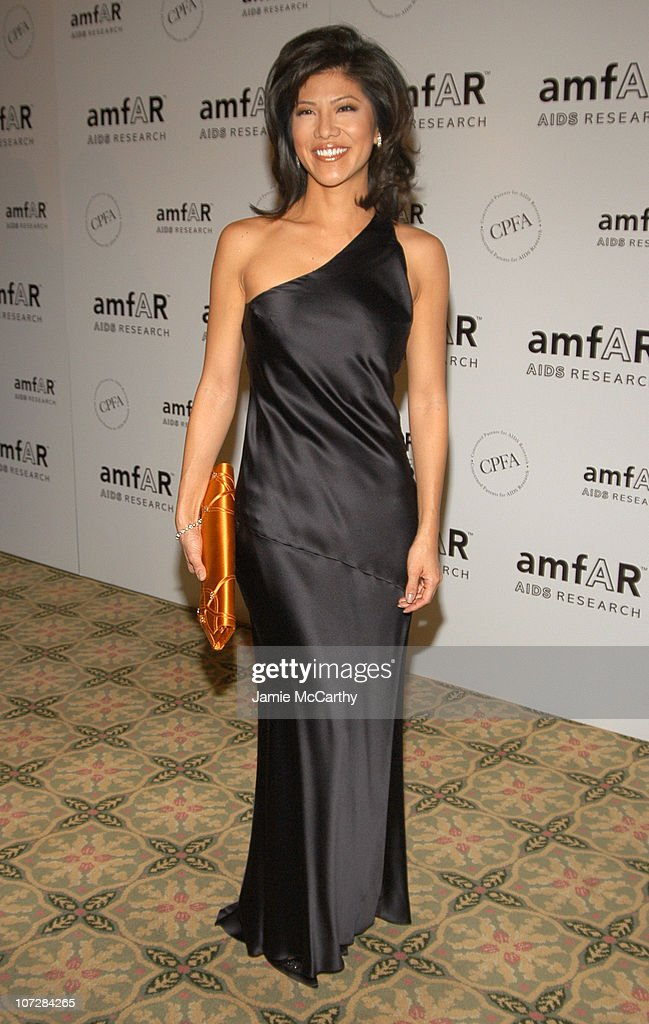 Julie Chen at amfAR's New York Gala to Honor Patti LaBelle Sumner Redstone and Peter Dolan