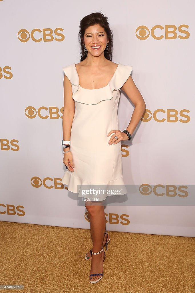 <a gi-track='captionPersonalityLinkClicked' href=/galleries/search?phrase=Julie+Chen&family=editorial&specificpeople=206213 ng-click='$event.stopPropagation()'>Julie Chen</a> attends the 2015 CBS Upfront at The Tent at Lincoln Center on May 13, 2015 in New York City.