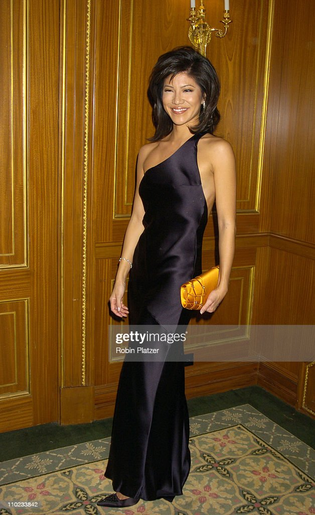 Julie Chen during Patti LaBelle Sumner Redstone and Peter Dolan Honored by amfAR at The Pierre Hotel in New York City New York United States