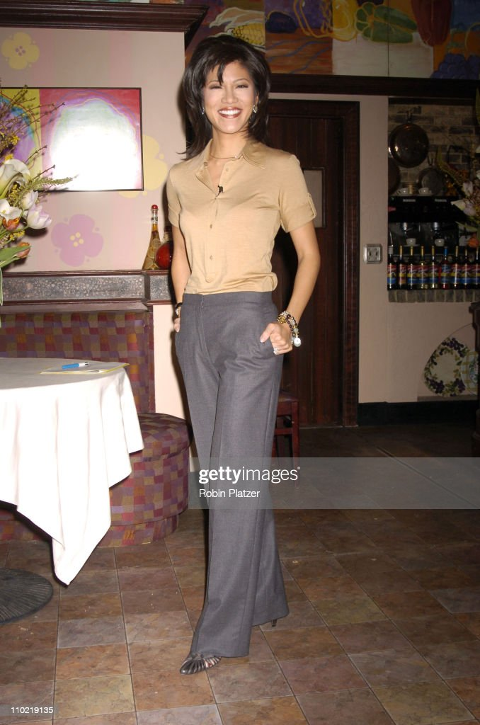 <a gi-track='captionPersonalityLinkClicked' href=/galleries/search?phrase=Julie+Chen&family=editorial&specificpeople=206213 ng-click='$event.stopPropagation()'>Julie Chen</a> during The 32nd Annual Daytime EMMY Awards - Nomination Announcements at CBS Guiding Light Stages in New York City, New York, United States.
