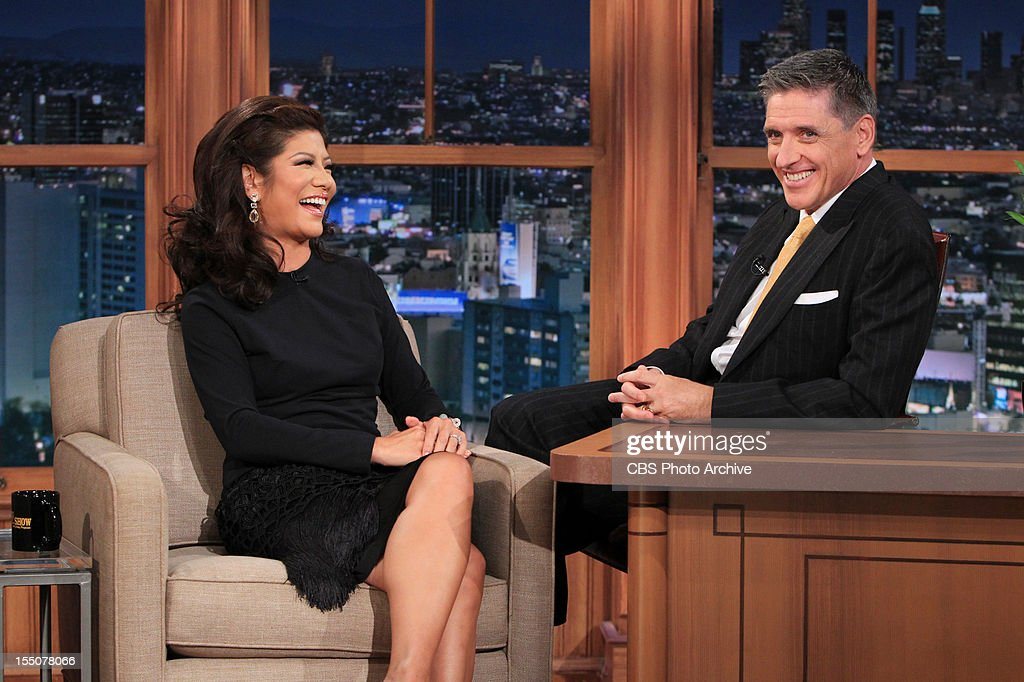 <a gi-track='captionPersonalityLinkClicked' href=/galleries/search?phrase=Julie+Chen&family=editorial&specificpeople=206213 ng-click='$event.stopPropagation()'>Julie Chen</a>, Host of Big Brother and co-host of The Talk with <a gi-track='captionPersonalityLinkClicked' href=/galleries/search?phrase=Craig+Ferguson+-+Talk+Show+Host&family=editorial&specificpeople=204509 ng-click='$event.stopPropagation()'>Craig Ferguson</a> on CBS' THE LATE LATE SHOW WITH CRAIG FERGUSON, scheduled to air September 17, 2012 on the CBS Television Network. (Photo by Sonja Flemming/CBS via Getty Images) *** Local Caption)
