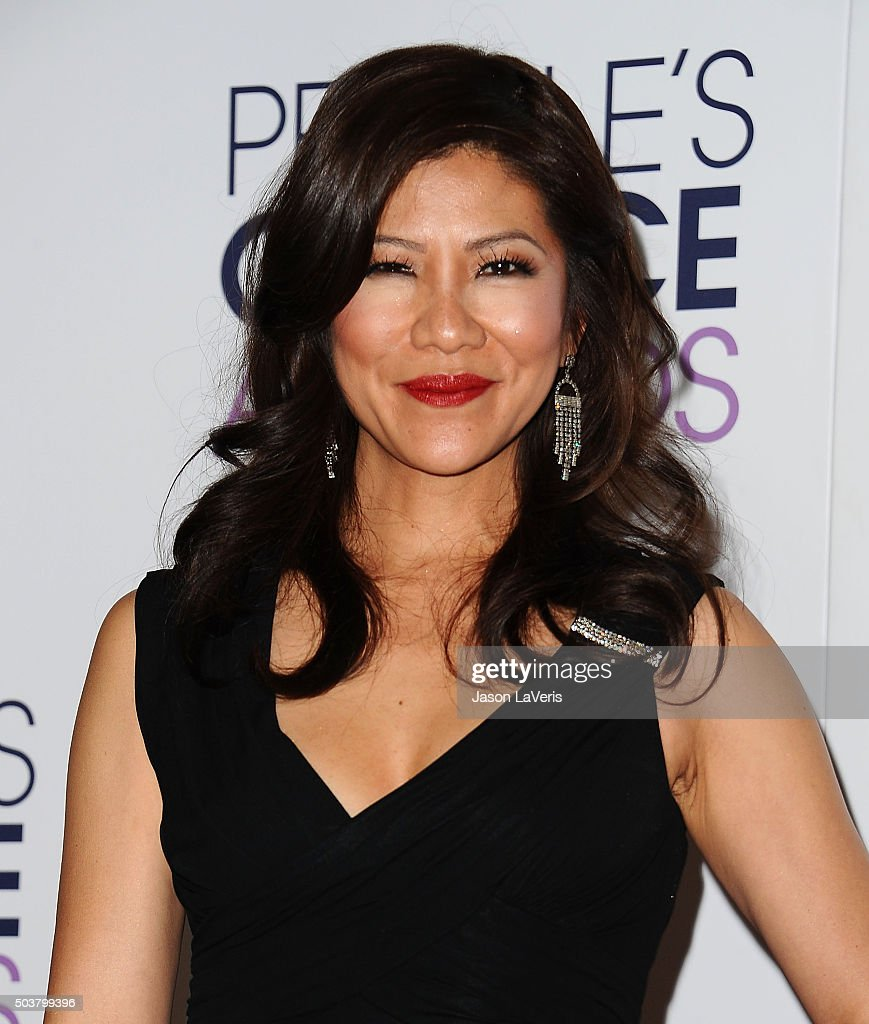 Julie Chen poses on the press room at the 2016 People's Choice Awards at Microsoft Theater on January 6 2016 in Los Angeles California