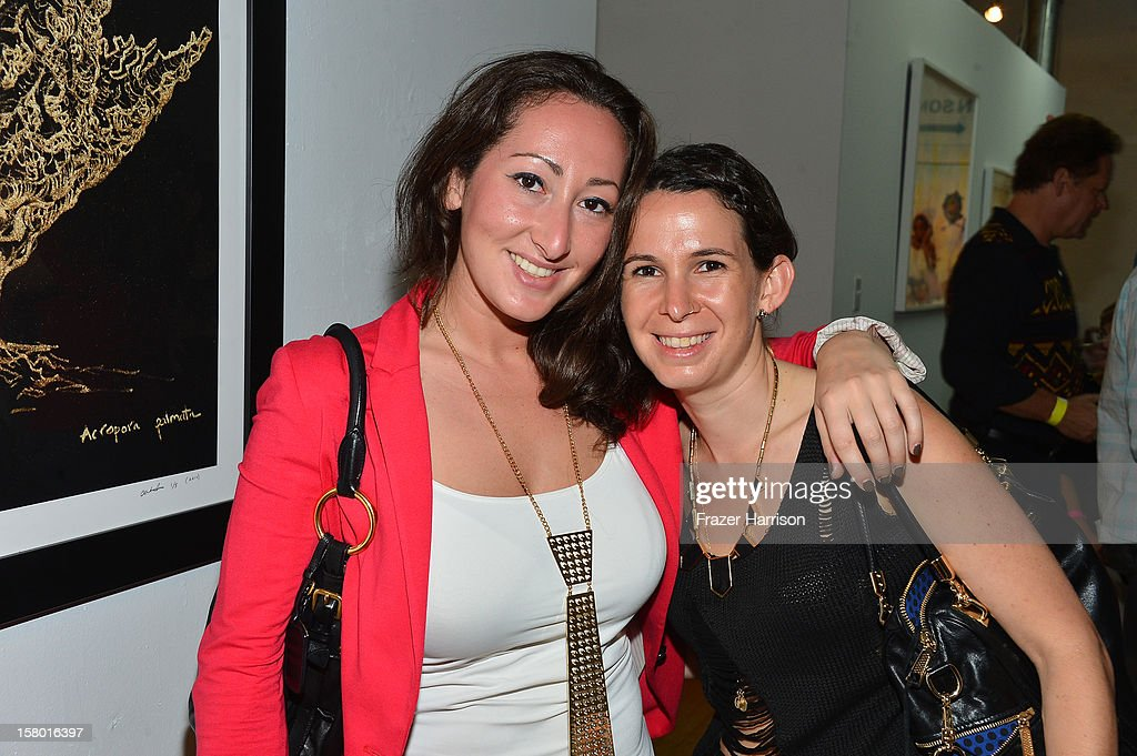 Julie Chernavsky and Erin Cohen attend the Art Miami after party at Bakehouse Art Complex on December 8, 2012 in Miami, Florida.