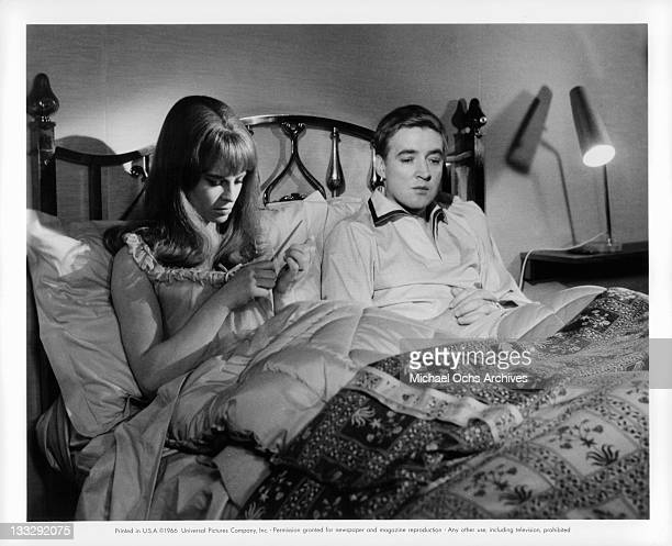 Julie Christie is annoyed by husband Oskar Werner in a scene from the film Fahrenheit 451' 1966
