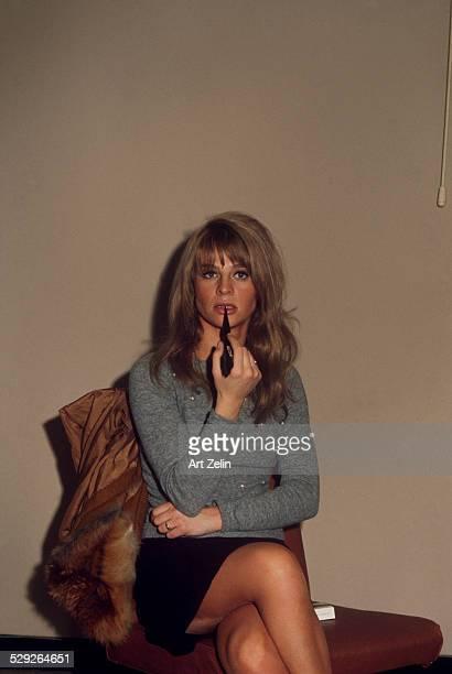 Julie Christie seated circa 1970 New York