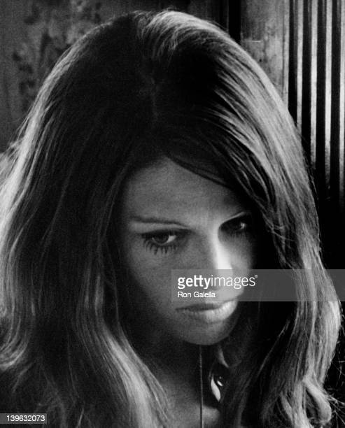 Julie Christie sighted on location filming 'In Search of Gregory' on September 1 1968 in Lake Geneva Switzerland