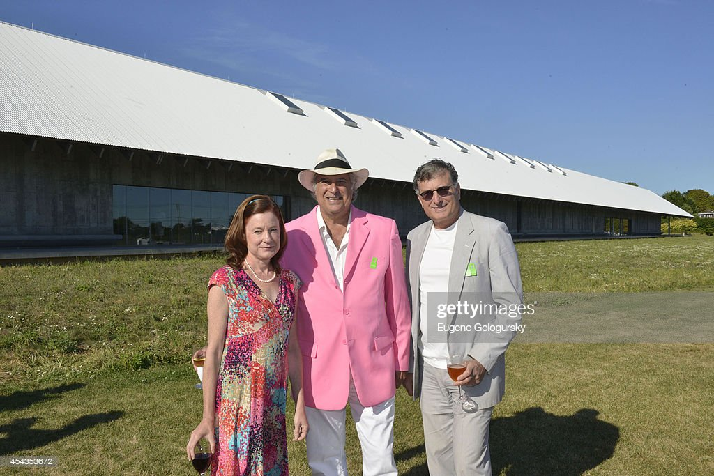 Julie Crosby, Stewart F. Lane and Bruce Cohen attend the Naming Celebration For Stewart F. Lane & Bonnie Comley Event Lawn at the Parrish Art Museum on August 29, 2014 in Water Mill, New York.