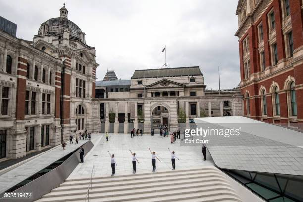Julie Cunnigham Company dancers perform in the new allporcelain courtyard at the Victoria and Albert Museum on June 28 2017 in London England The new...