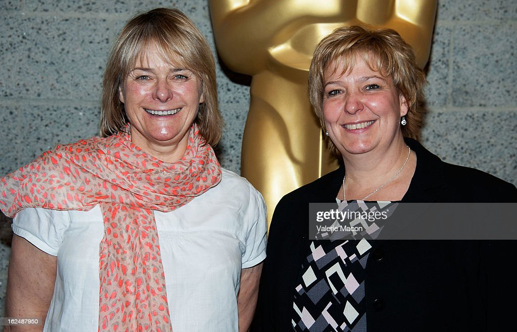 Julie Dartnell and Lisa Westcott attends The Academy Of Motion Picture Arts And Sciences Presents Oscar Celebrates: Makeup And Hairstyling at the Academy of Motion Picture Arts and Sciences on February 23, 2013 in Beverly Hills, California.