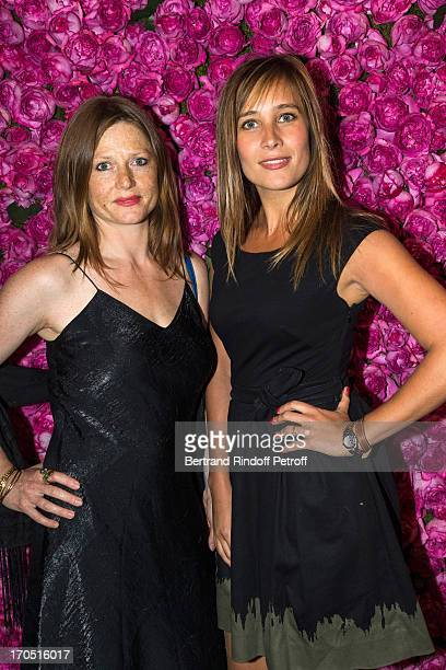 Julie de Bona and Marie Le Cam attend the Piaget Rose Day Private Event in Orangerie Ephemere at Jardin des Tuileries on June 13 2013 in Paris France