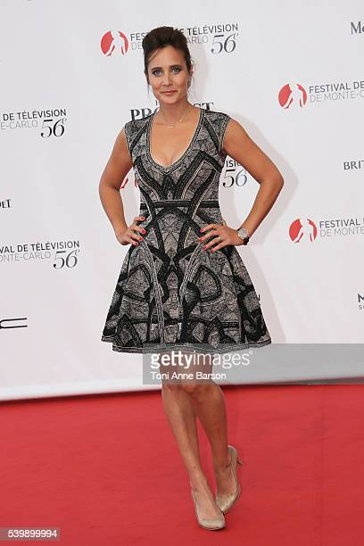 Julie de Bona arrives at the 56th Monte Carlo TV Festival Opening Ceremony at the Grimaldi Forum on June 12 2016 in MonteCarlo Monaco