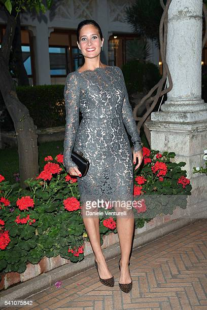 Julie de Bona attends Baume Mercier Closing Night 62 Taormina Film Fest on June 18 2016 in Taormina Italy