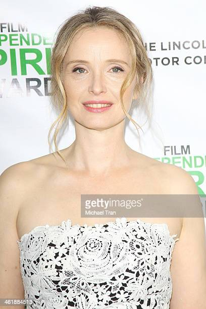 Julie Delpy arrives at the 2014 Film Independent Filmmaker Grant and Spirit Awards nominees brunch held at BOA Steakhouse on January 11 2014 in West...