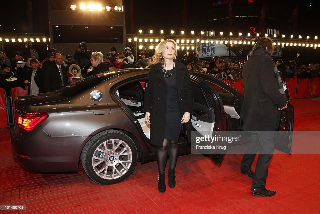 <a gi-track='captionPersonalityLinkClicked' href=/galleries/search?phrase=Julie+Delpy&family=editorial&specificpeople=201914 ng-click='$event.stopPropagation()'>Julie Delpy</a> attends 'Before Midnight' Premiere - BMW at the 63rd Berlinale International Film Festival at the Berlinale-Palast on February 11, 2013 in Berlin, Germany.