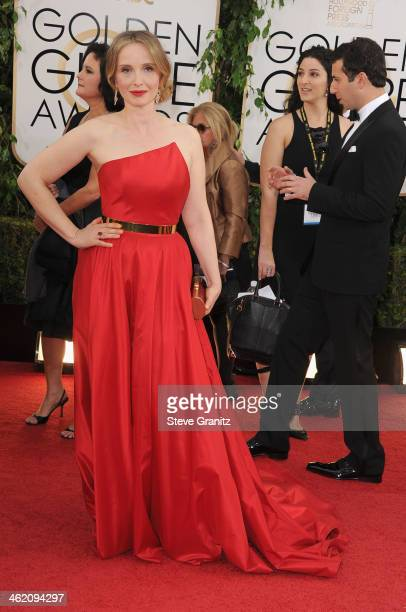 Julie Delpy attends the 71st Annual Golden Globe Awards held at The Beverly Hilton Hotel on January 12 2014 in Beverly Hills California