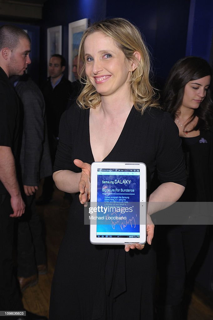 Julie Delpy attends the Before Midnight Premiere Cocktail Party at The Samsung Galaxy Lounge at Village at the Lift on January 20, 2013 in Park City, Utah.