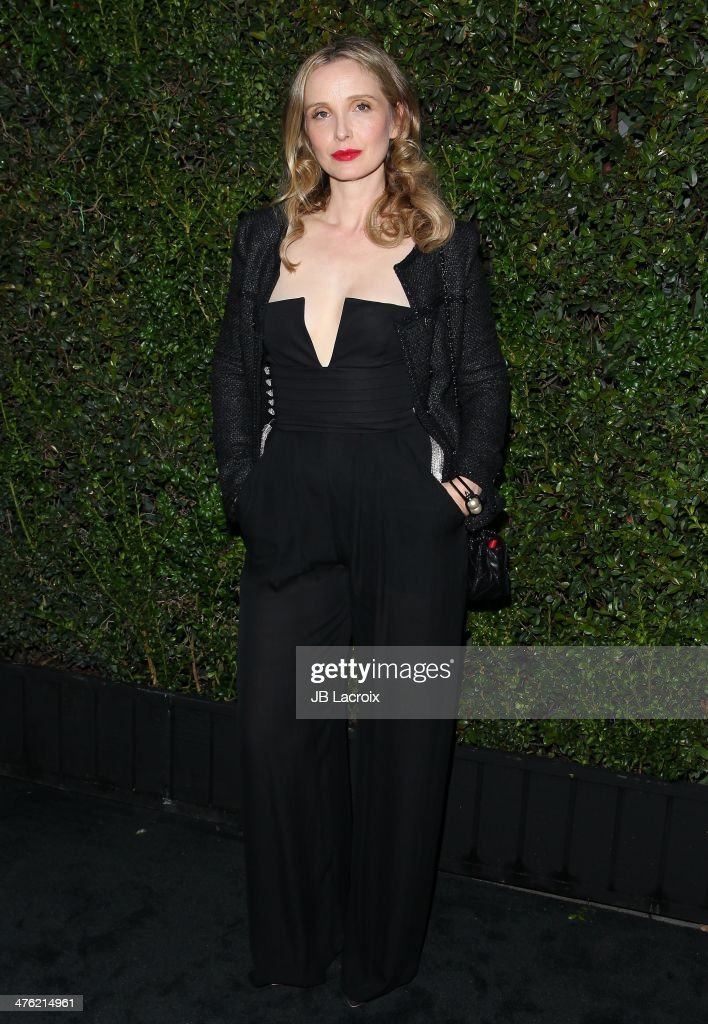 <a gi-track='captionPersonalityLinkClicked' href=/galleries/search?phrase=Julie+Delpy&family=editorial&specificpeople=201914 ng-click='$event.stopPropagation()'>Julie Delpy</a> attends the Chanel Charles Finch Pre-Oscar Dinner held at Madeo Restaurant on March 1, 2014 in Los Angeles, California.