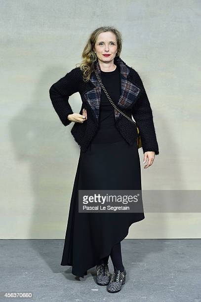 Julie Delpy attends the Chanel show as part of the Paris Fashion Week Womenswear Spring/Summer 2015 on September 30 2014 in Paris France