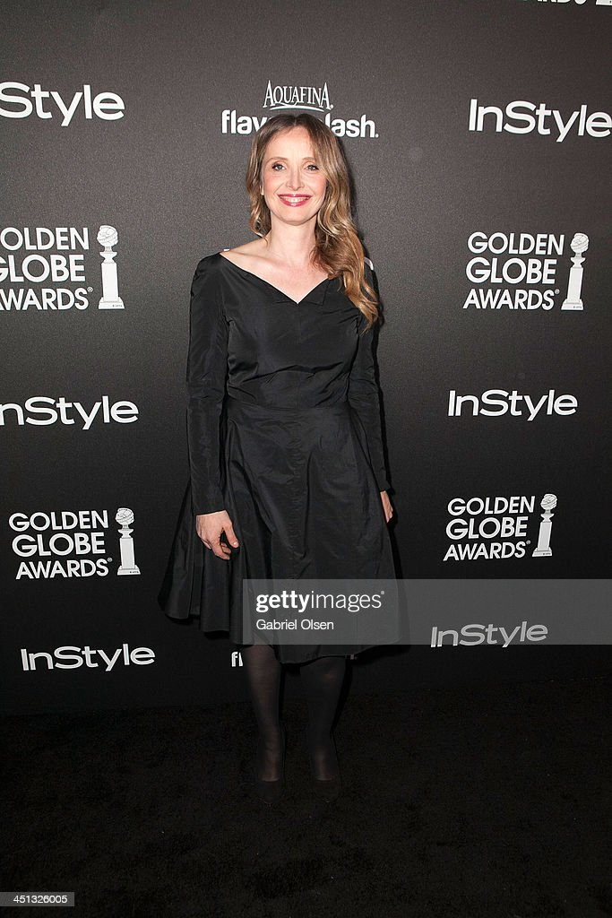 <a gi-track='captionPersonalityLinkClicked' href=/galleries/search?phrase=Julie+Delpy&family=editorial&specificpeople=201914 ng-click='$event.stopPropagation()'>Julie Delpy</a> attends The Hollywood Foreign Press Association (HFPA) And InStyle Celebrates The 2014 Golden Globe Awards Season at Fig & Olive Melrose Place on November 21, 2013 in West Hollywood, California.