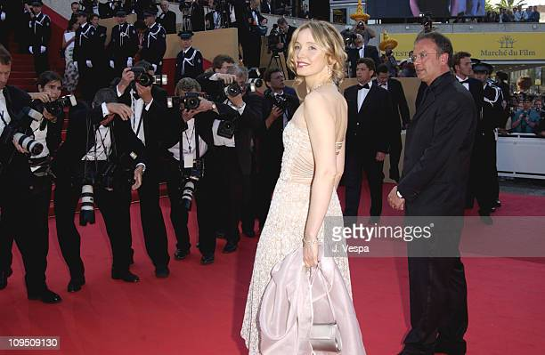 Julie Delpy during Cannes 2002 Opening Night 'Hollywood Ending' Premiere at Palais des Festivals in Cannes France