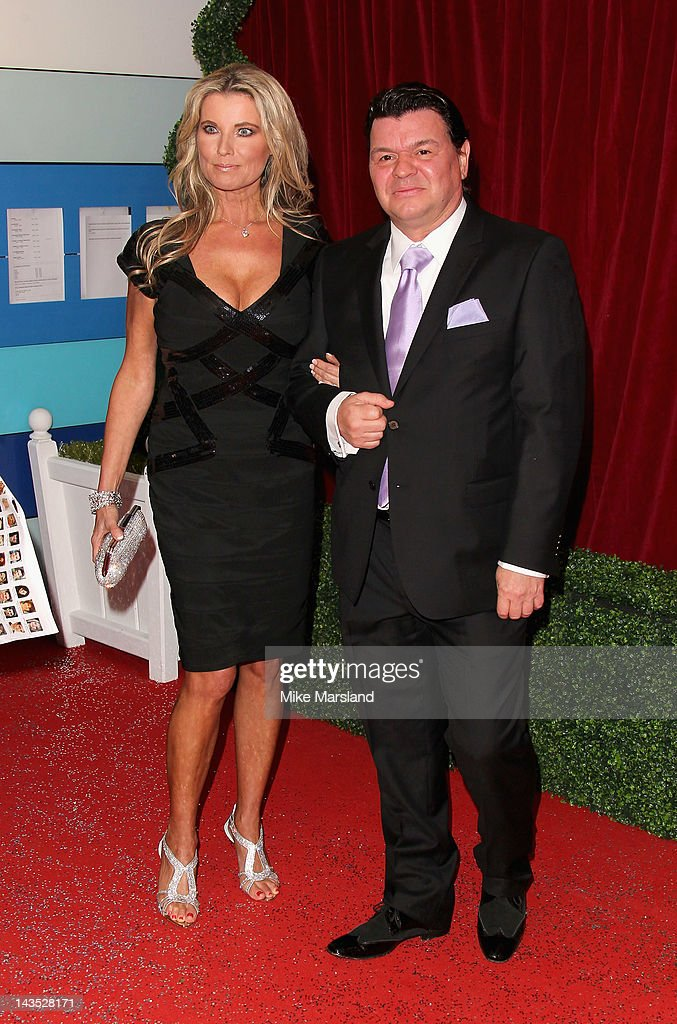 Julie Dennis and actor Jamie Foreman attend the British Soap Awards at The London Television Centre on April 28, 2012 in London, England.