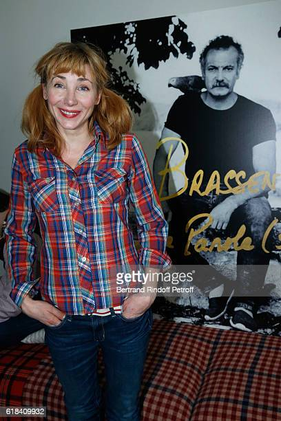 Julie Depardieu attends the Brassens Behind the Scenes and Press Junket on October 17 2016 in Paris France