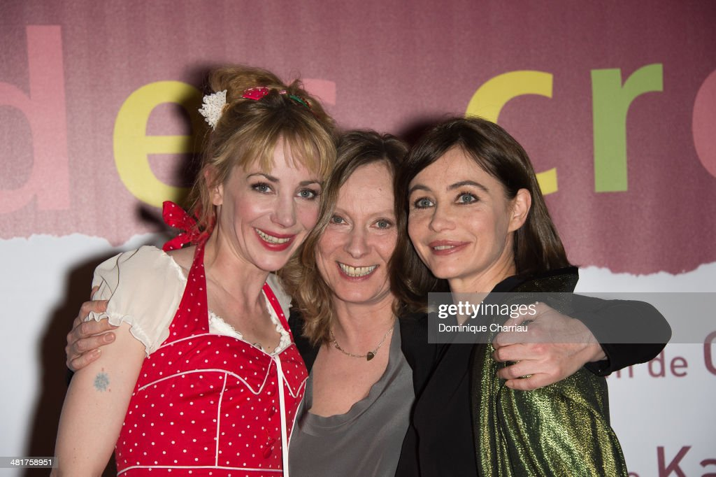 Julie Depardieu, Director Cecile Telerman and Emmanuelle Beart attend the 'Les Yeux Jaunes Des Crocodiles' Paris Premiere at Cinema Gaumont Marignan on March 31, 2014 in Paris, France.