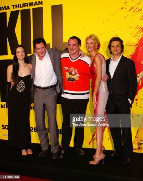 Julie Dreyfus Michael Madsen Quentin Tarantino Uma Thurman and Lawrence Bender