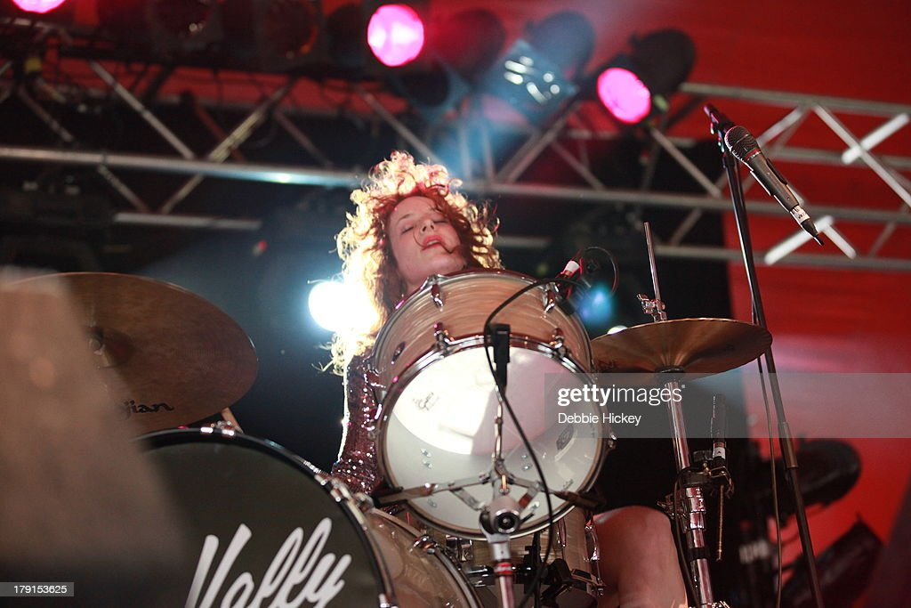 Julie Edwards of Deap Vally performs at Day 2 of Electric Picnic at Stradbally Hall Estate on August 31, 2013 in Dublin, Ireland.