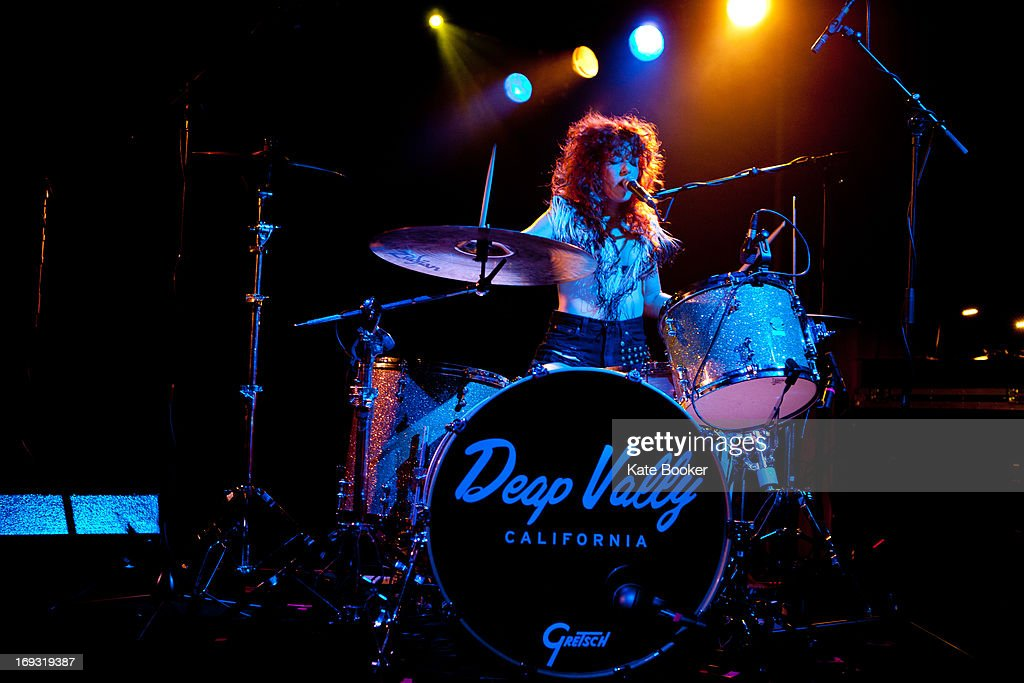 Julie Edwards of Deap Vally performs on stage at Scala on May 22, 2013 in London, England.