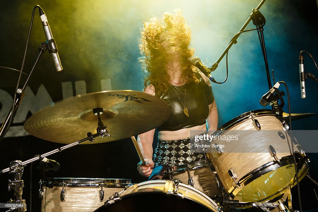 Julie Edwards of Deap Vally performs on stage at Tramlines Festival at The Leadmill on July 26, 2014 in Sheffield, United Kingdom.