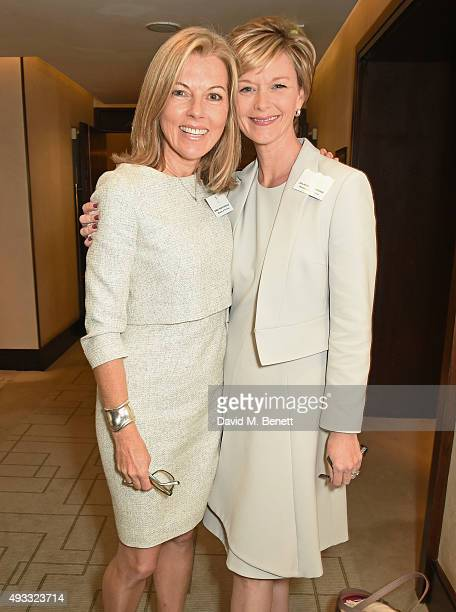 Julie Etchingham and Mary Nightingale attend the Women of the Year lunch and awards at the InterContinental Park Lane Hotel on October 19 2015 in...